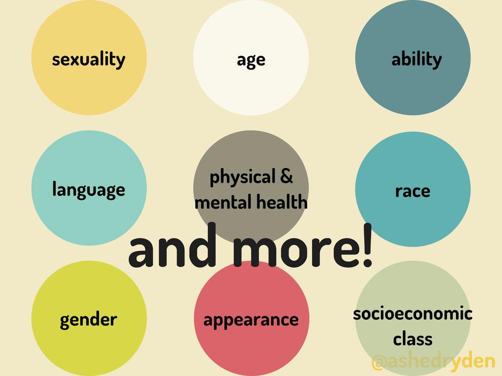 @ashedryden race gender sexuality ability langu...