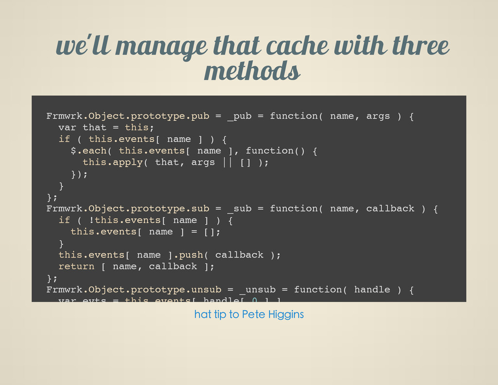 weG ll manage that cache with three methods F r...