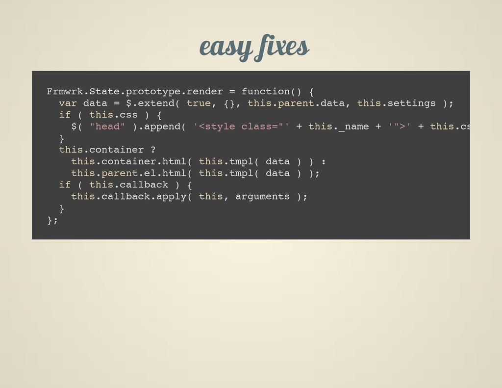 easy fixes F r m w r k . S t a t e . p r o t o ...