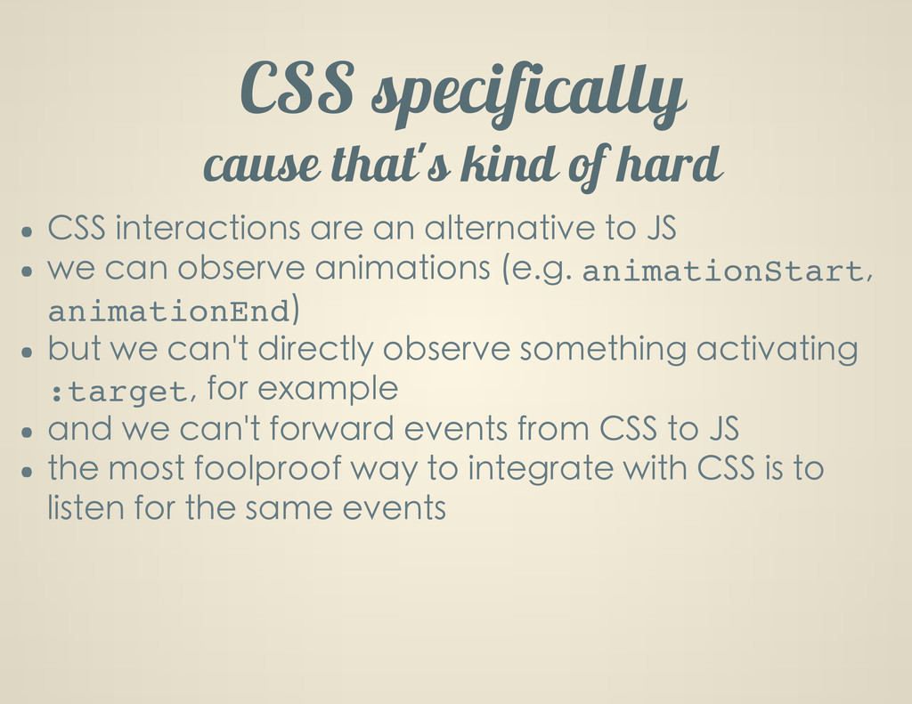 CSS specifically cause thatG s kind of hard CSS...