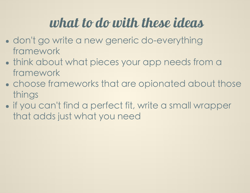 what to do with these ideas don't go write a ne...