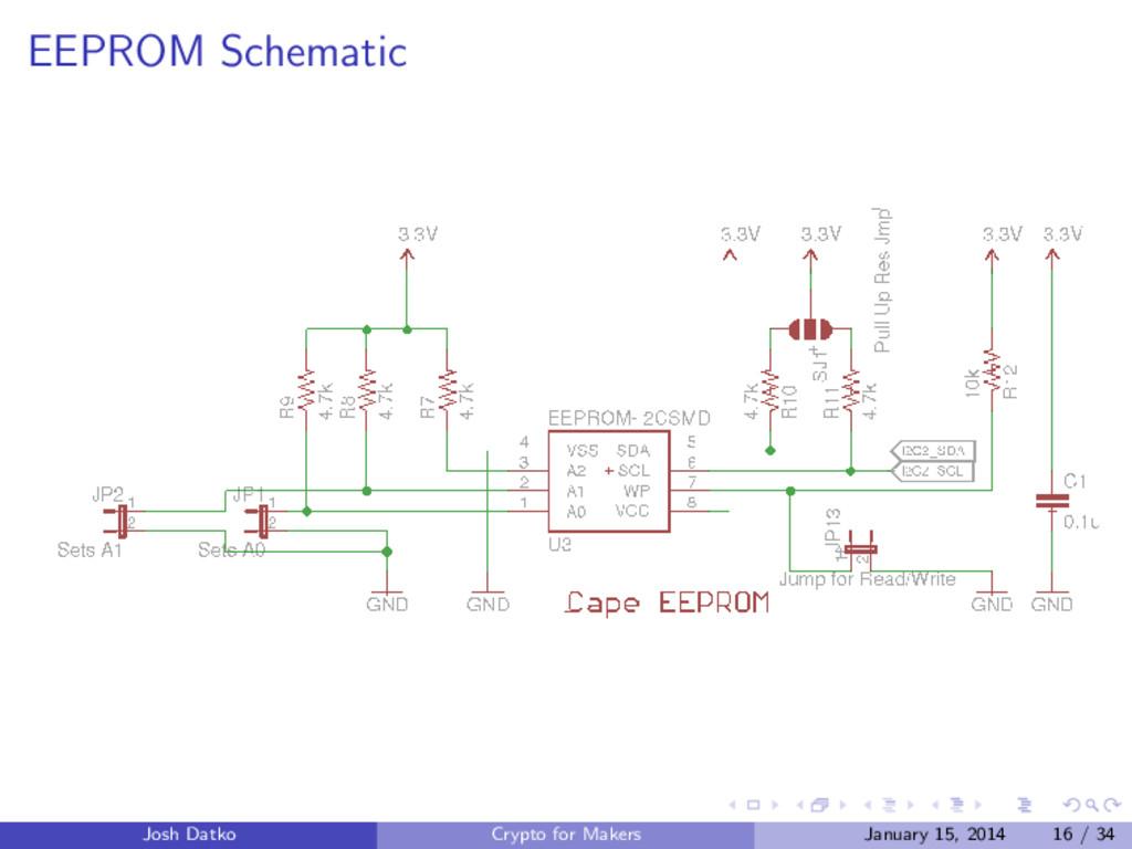EEPROM Schematic Josh Datko Crypto for Makers J...