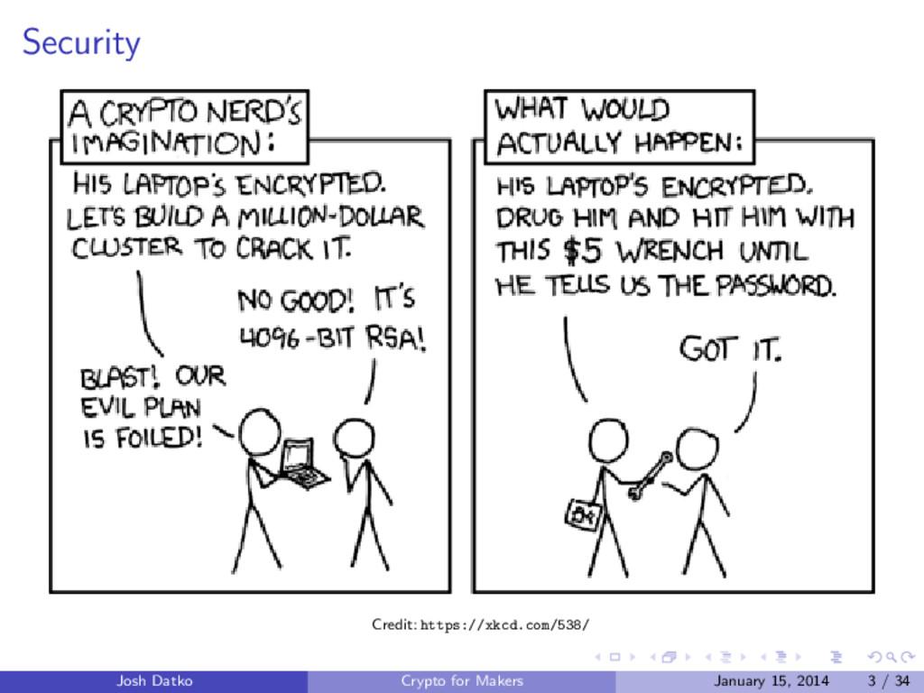Security Credit: https://xkcd.com/538/ Josh Dat...