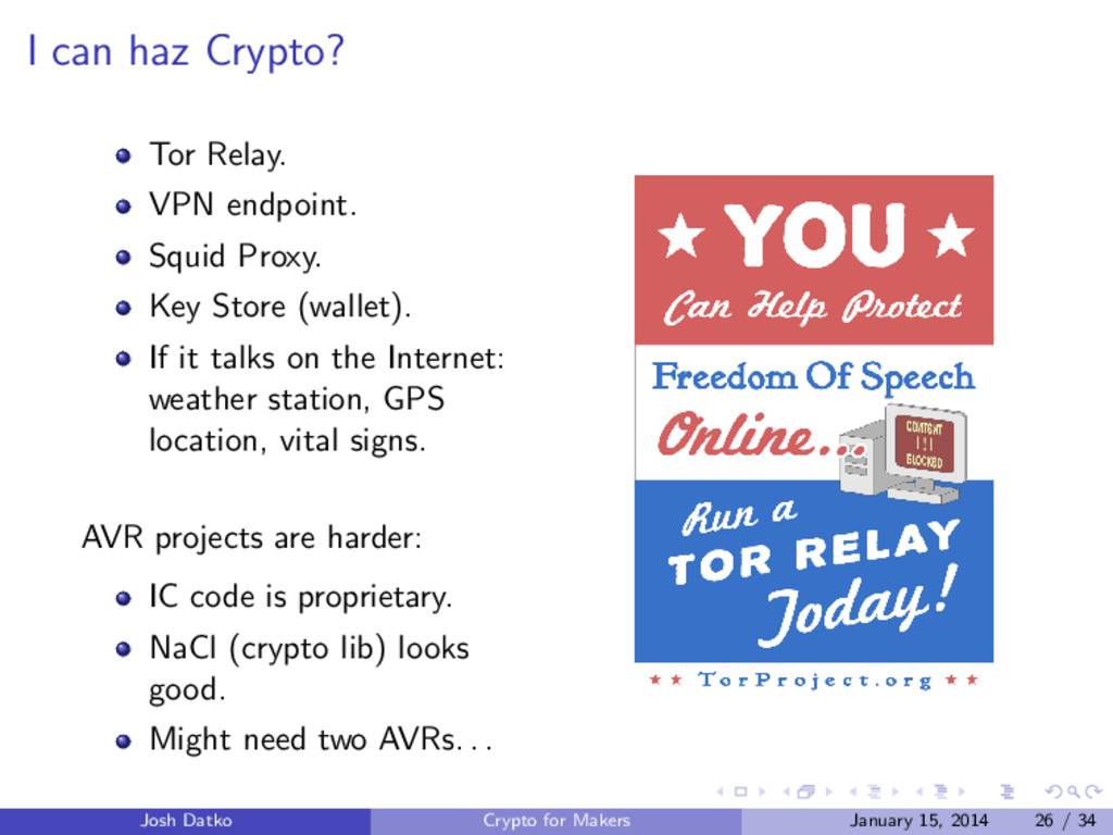 I can haz Crypto? Tor Relay. VPN endpoint. Squi...