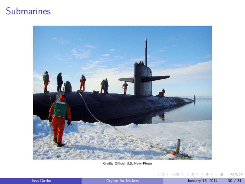 Submarines Credit: Official U.S. Navy Photo Josh ...
