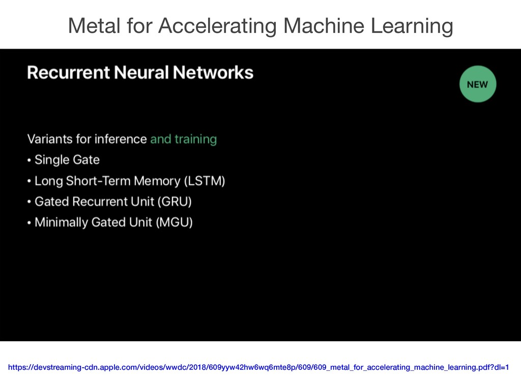 Metal for Accelerating Machine Learning https:/...