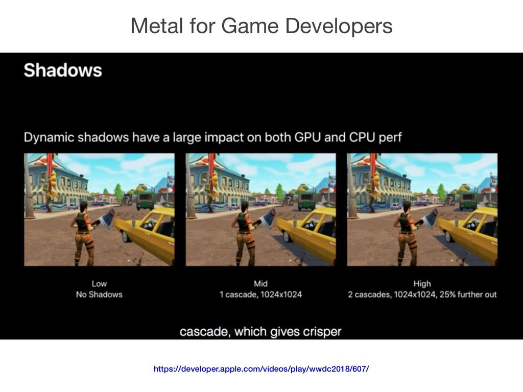 Metal for Game Developers https://developer.app...
