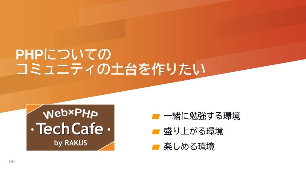 PHPについての コミュニティの土台を作りたい ▰ 一緒に勉強する環境 ▰ 盛り上がる環境 ▰...