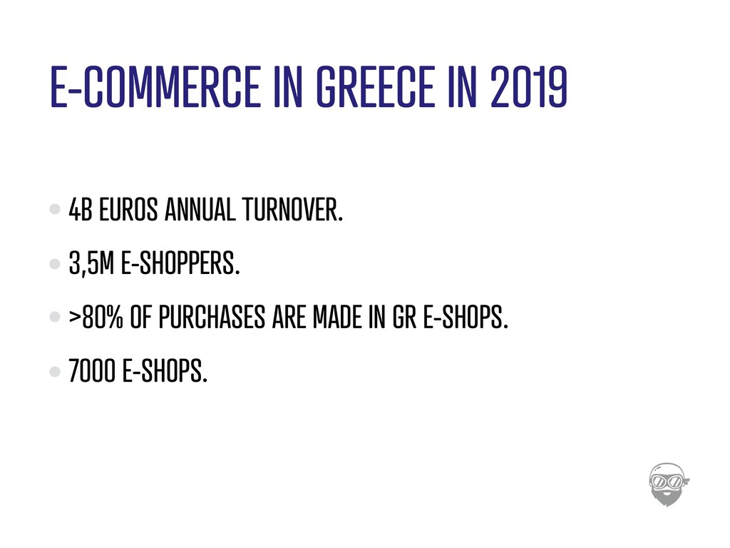 E-COMMERCE IN GREECE IN 2019 4B EUROS ANNUAL TU...