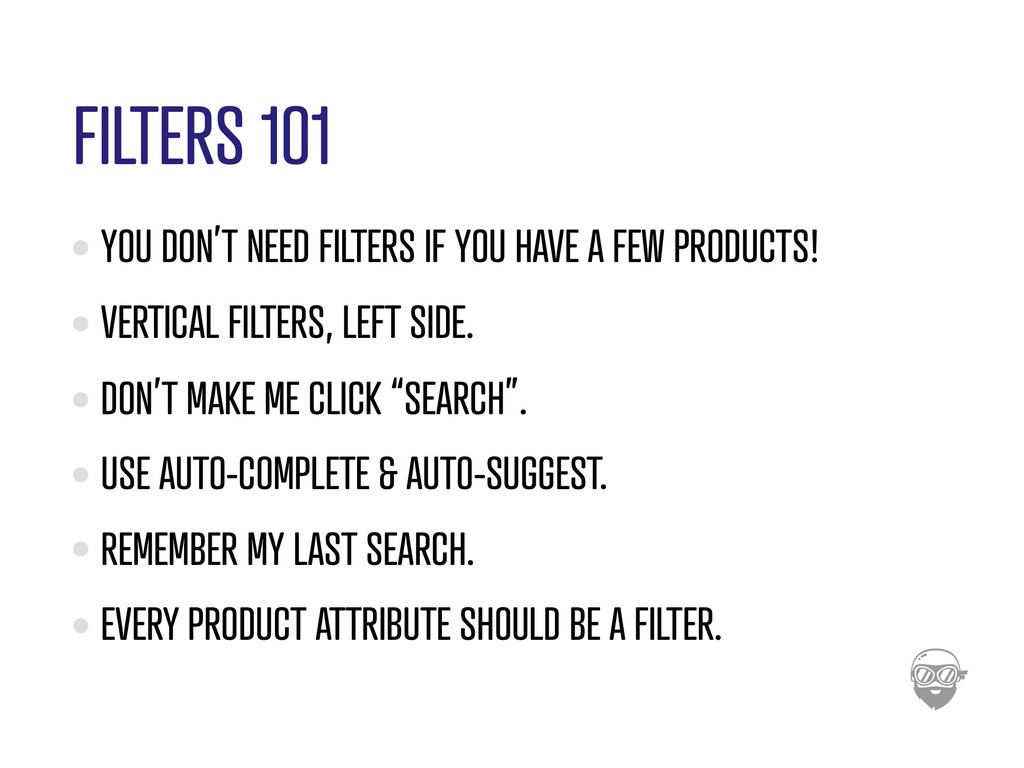 FILTERS 101 YOU DON'T NEED FILTERS IF YOU HAVE ...