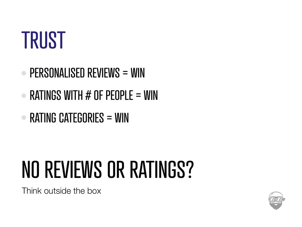 TRUST PERSONALISED REVIEWS = WIN RATINGS WITH #...