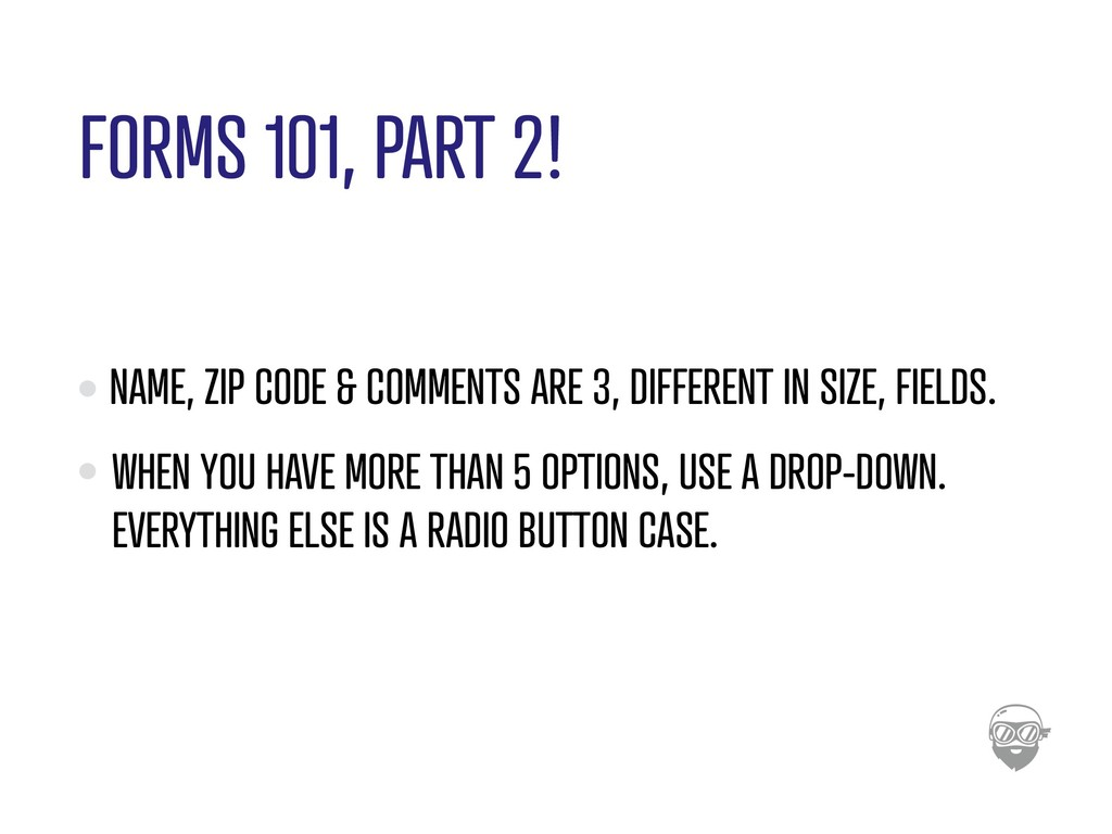 FORMS 101, PART 2! NAME, ZIP CODE & COMMENTS AR...