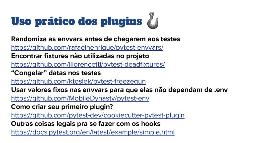 Uso prático dos plugins Randomiza as envvars an...