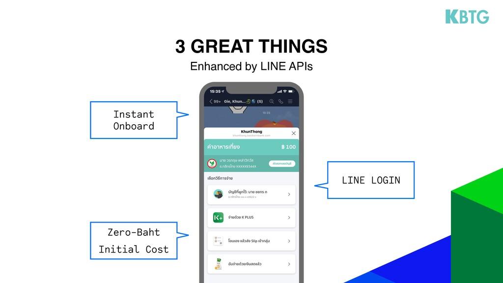 LINE LOGIN 3 GREAT THINGS Enhanced by LINE APIs...