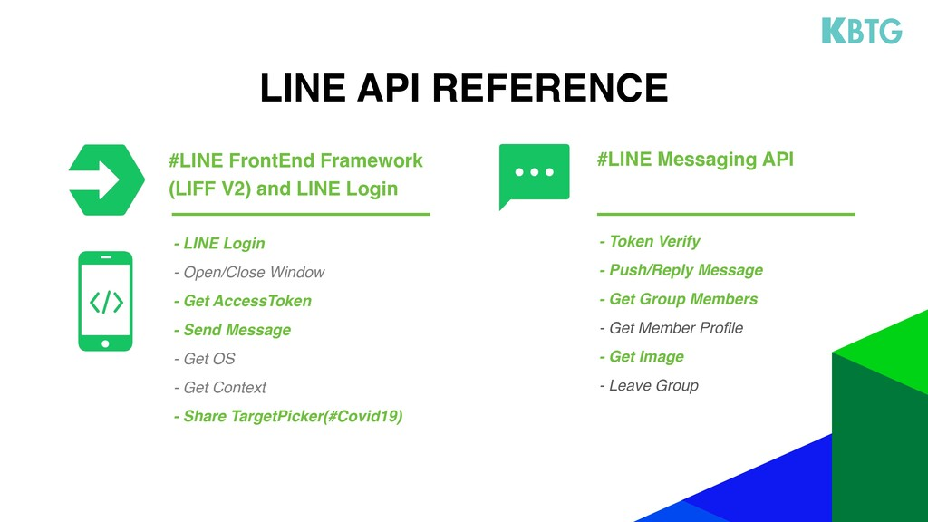 LINE API REFERENCE - Token Verify - Push/Reply ...