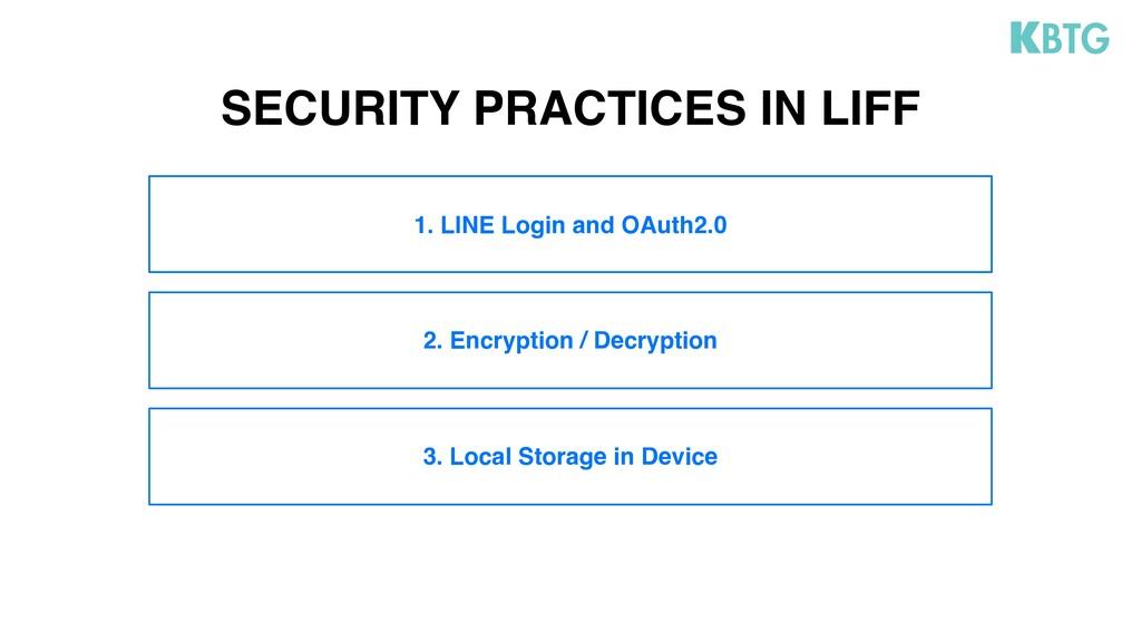 2. Encryption / Decryption 3. Local Storage in ...