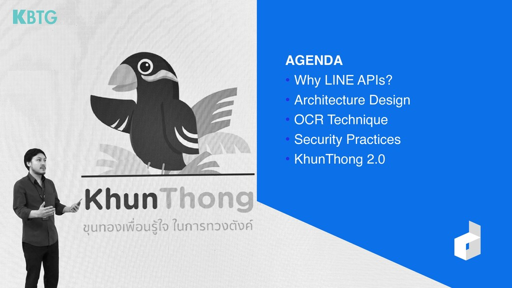AGENDA • Why LINE APIs? • Architecture Design •...