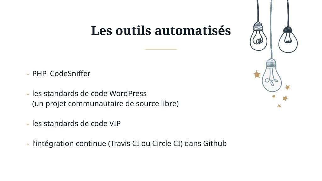 Les outils automatisés - PHP_CodeSniffer - les ...