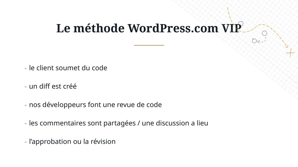 Le méthode WordPress.com VIP - le client soumet...