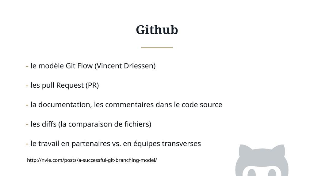 Github - le modèle Git Flow (Vincent Driessen) ...