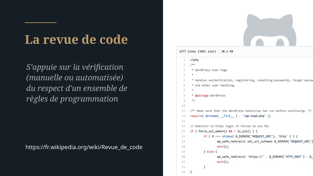 La revue de code S'appuie sur la vérification (m...