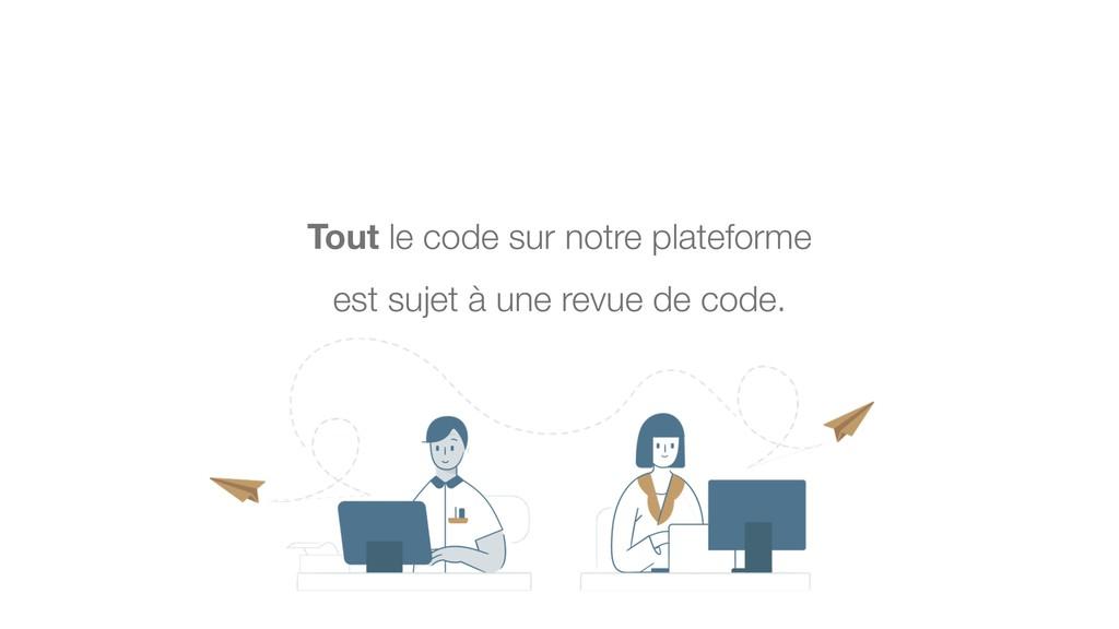Tout le code sur notre plateforme est sujet à u...