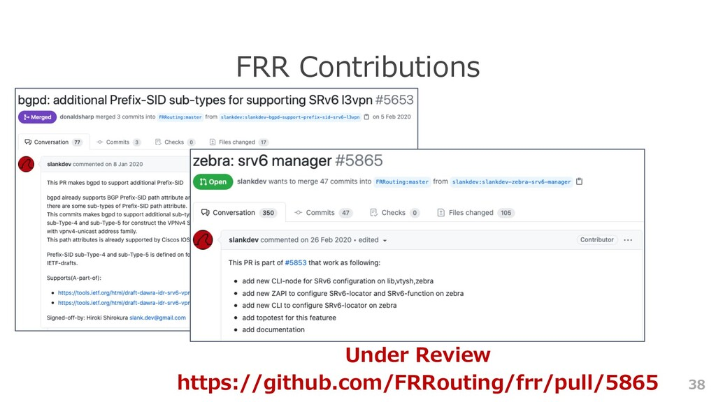 38 FRR Contributions Under Review https://githu...