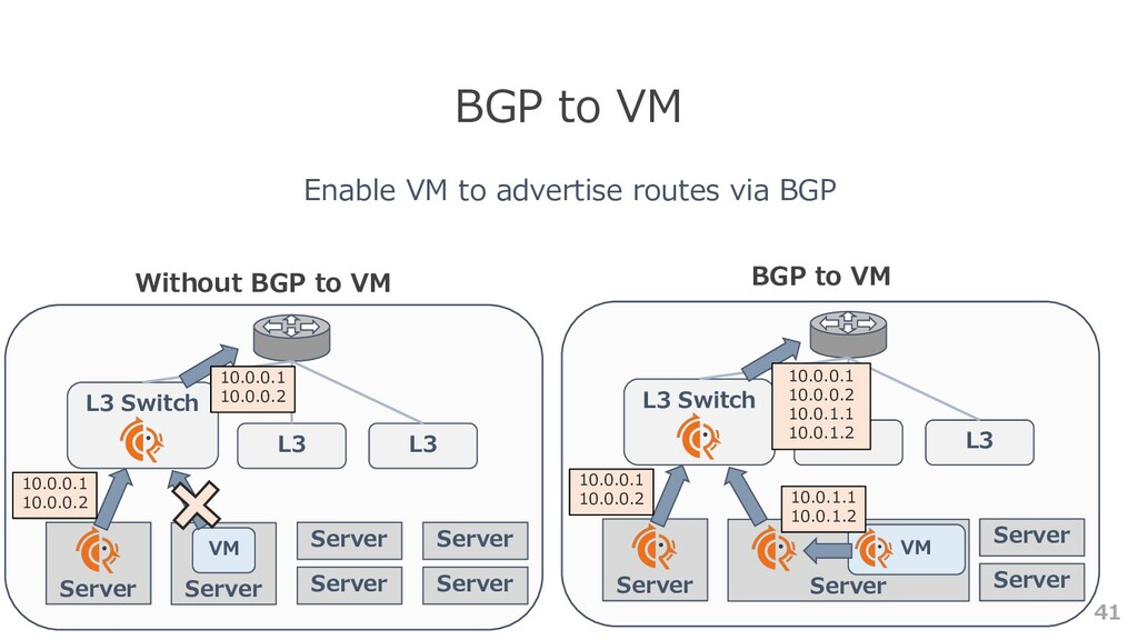 41 BGP to VM Enable VM to advertise routes via ...
