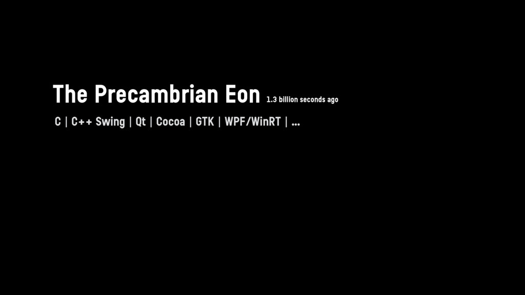 The Precambrian Eon C | C++ Swing | Qt | Cocoa ...