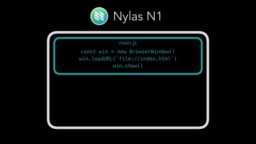 Nylas N1 main.js const win = new BrowserWindow(...