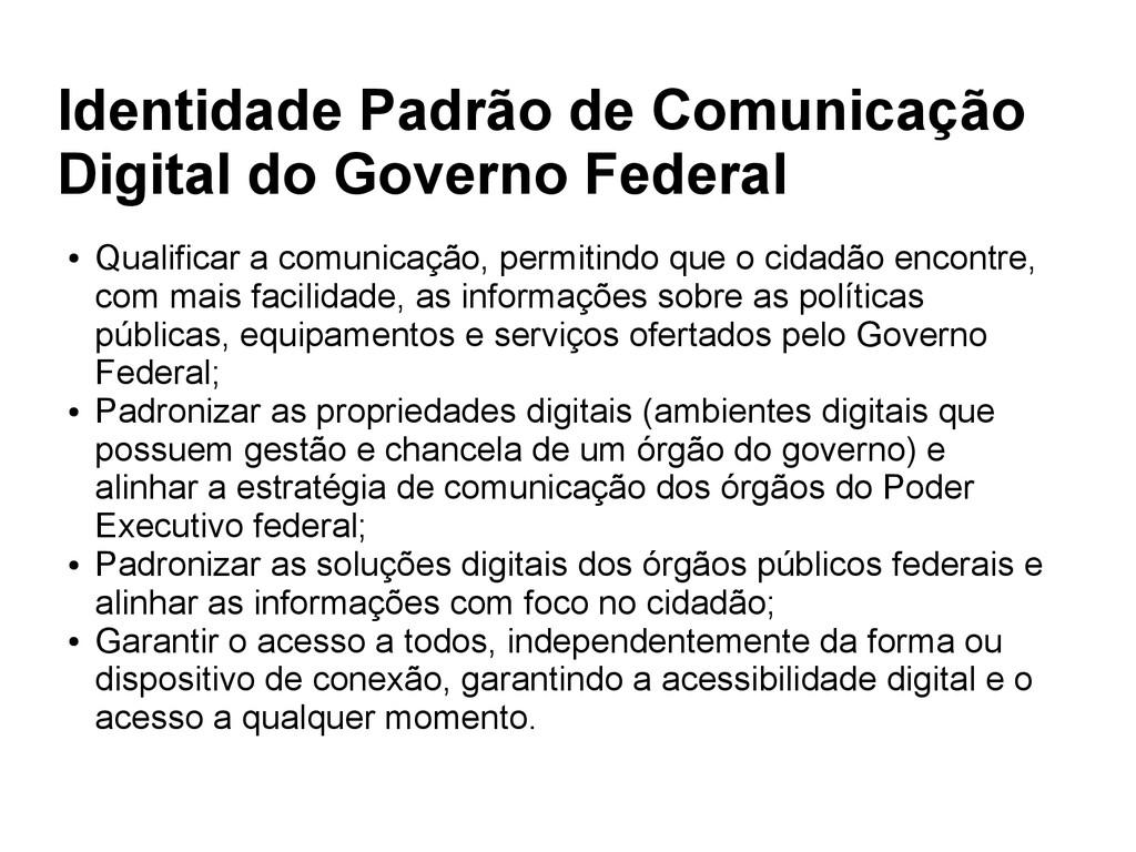 Identidade Padrão de Comunicação Digital do Gov...