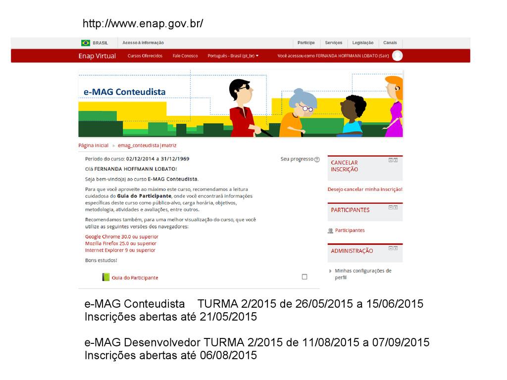 e-MAG Conteudista TURMA 2/2015 de 26/05/2015 a ...