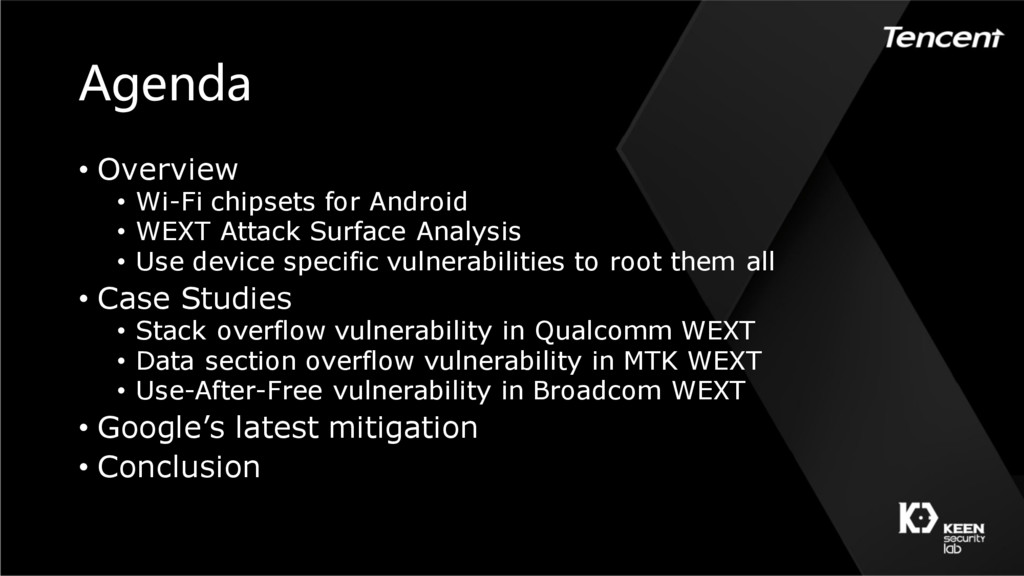 Agenda • Overview • Wi-Fi chipsets for Android ...