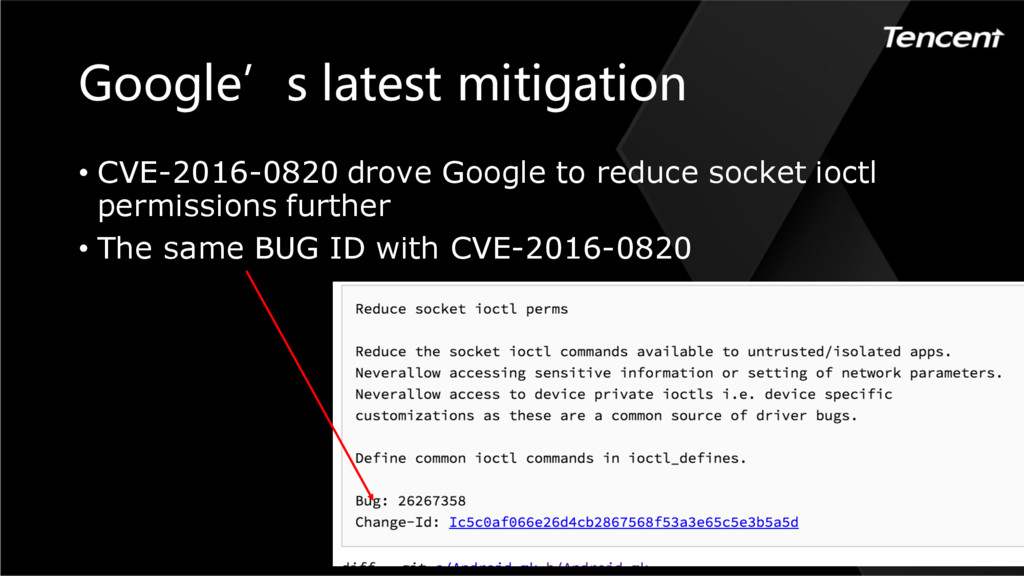 Google's latest mitigation • CVE-2016-0820 drov...