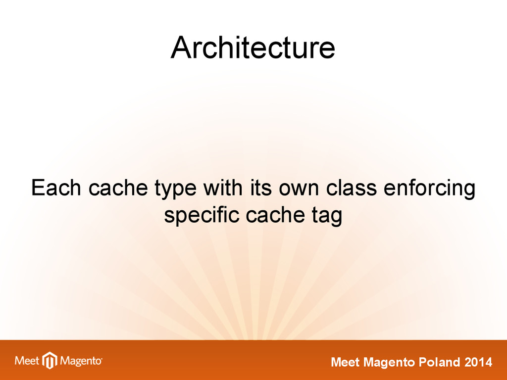Meet Magento Poland 2014 Architecture Each cach...