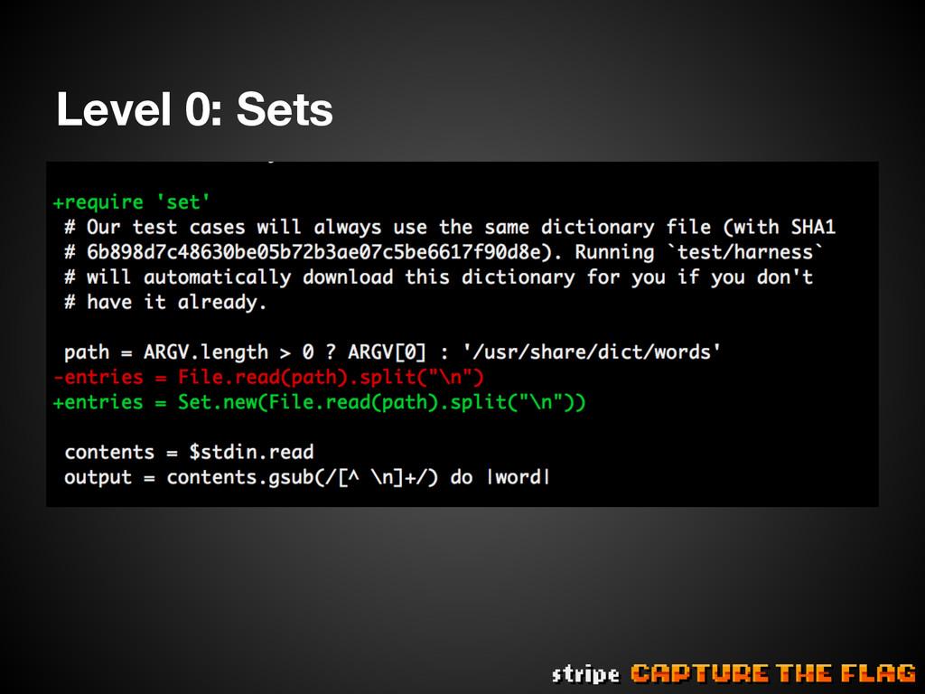 Level 0: Sets