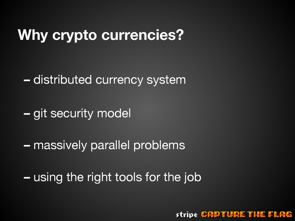 Why crypto currencies? – distributed currency ...