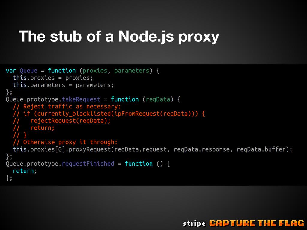 The stub of a Node.js proxy