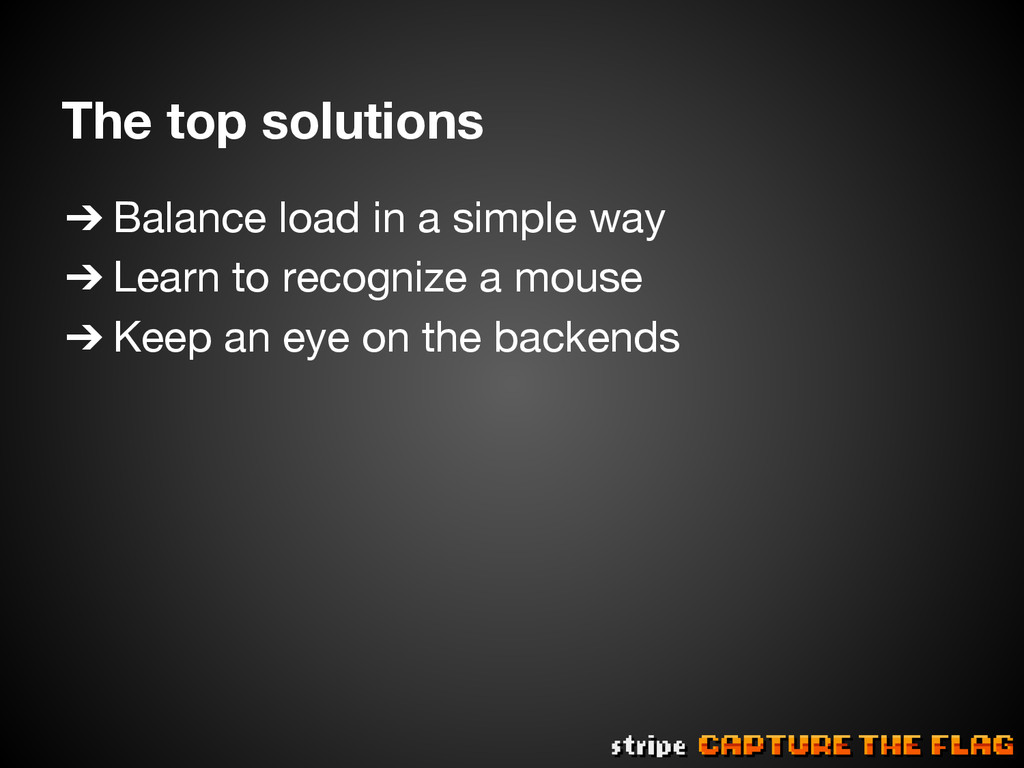 The top solutions ➔Balance load in a simple w...