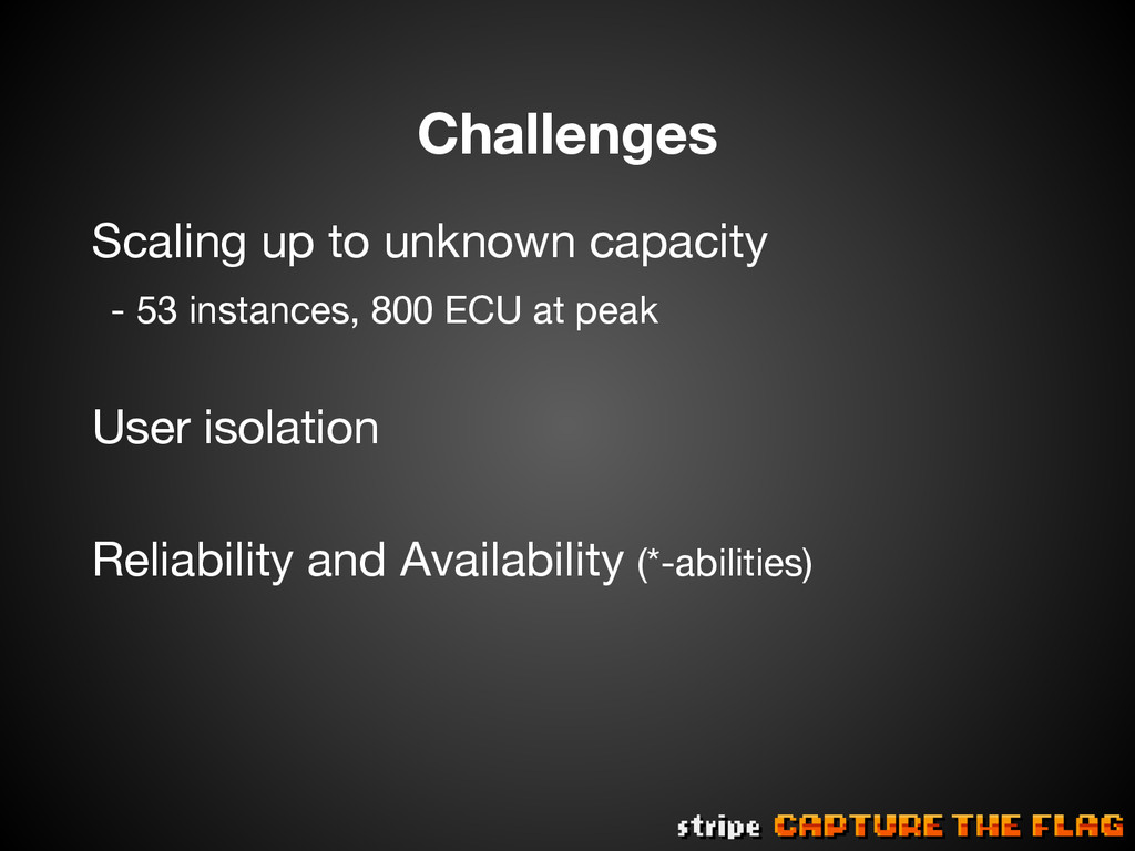 Challenges Scaling up to unknown capacity - ...