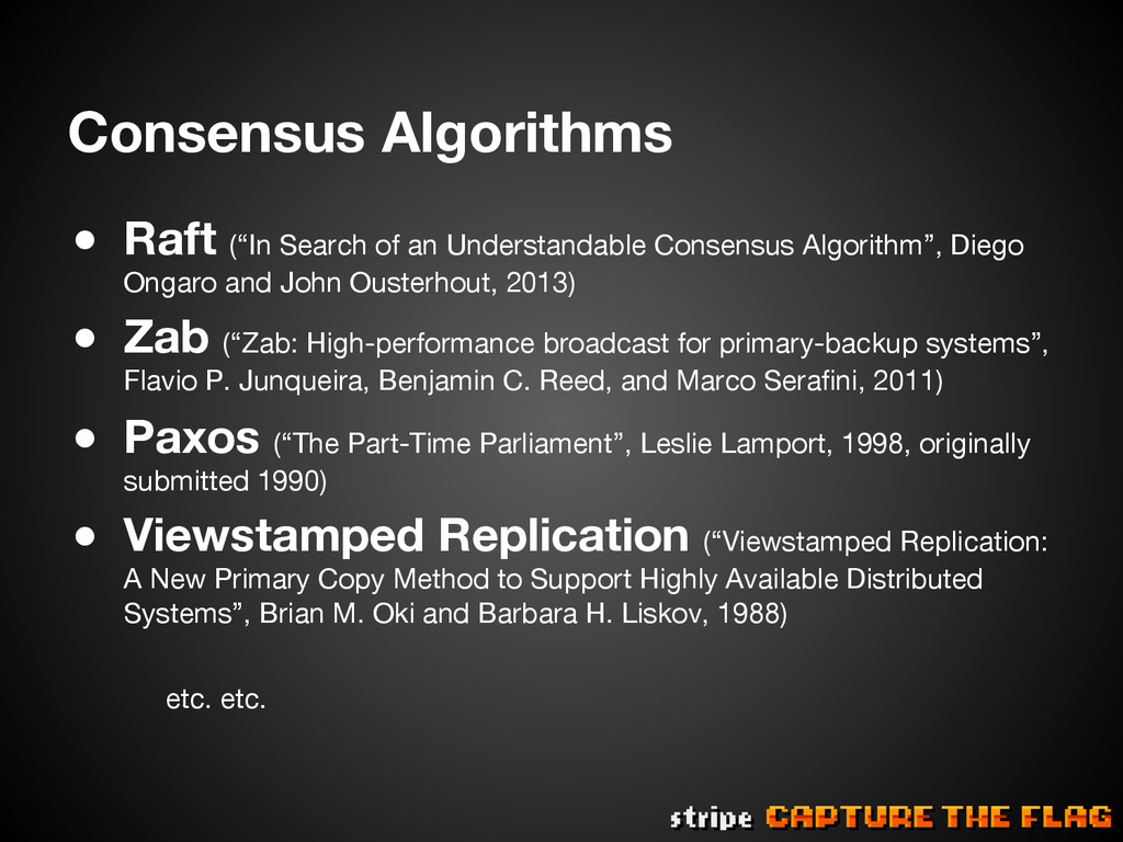 """Consensus Algorithms ● Raft (""""In Search of an..."""