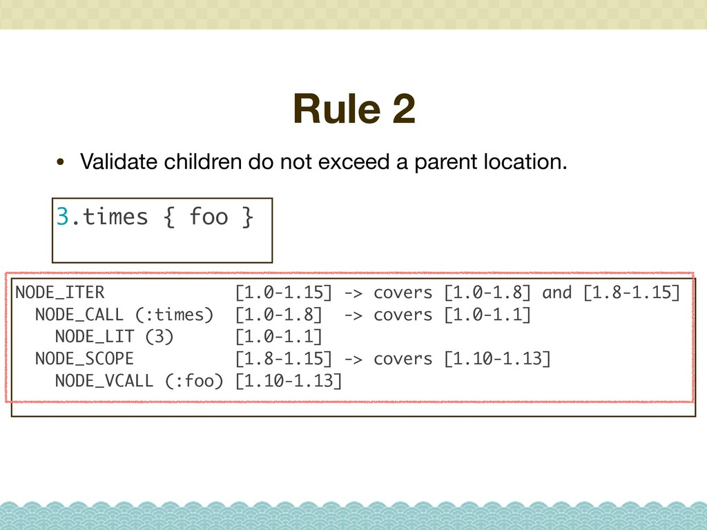 Rule 2 • Validate children do not exceed a pare...