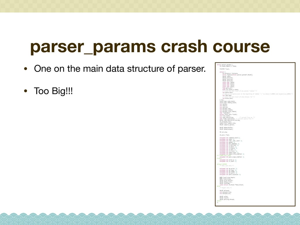 parser_params crash course • One on the main da...