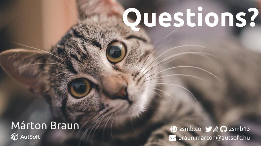 Questions? Márton Braun zsmb.co zsmb13 braun.ma...