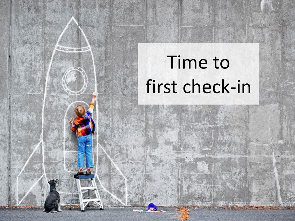 © Microsoft Corporation Time to first check-in