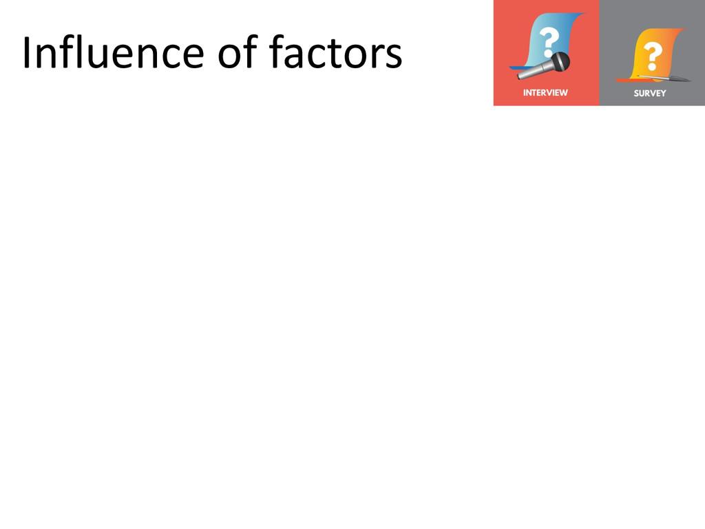 © Microsoft Corporation Influence of factors