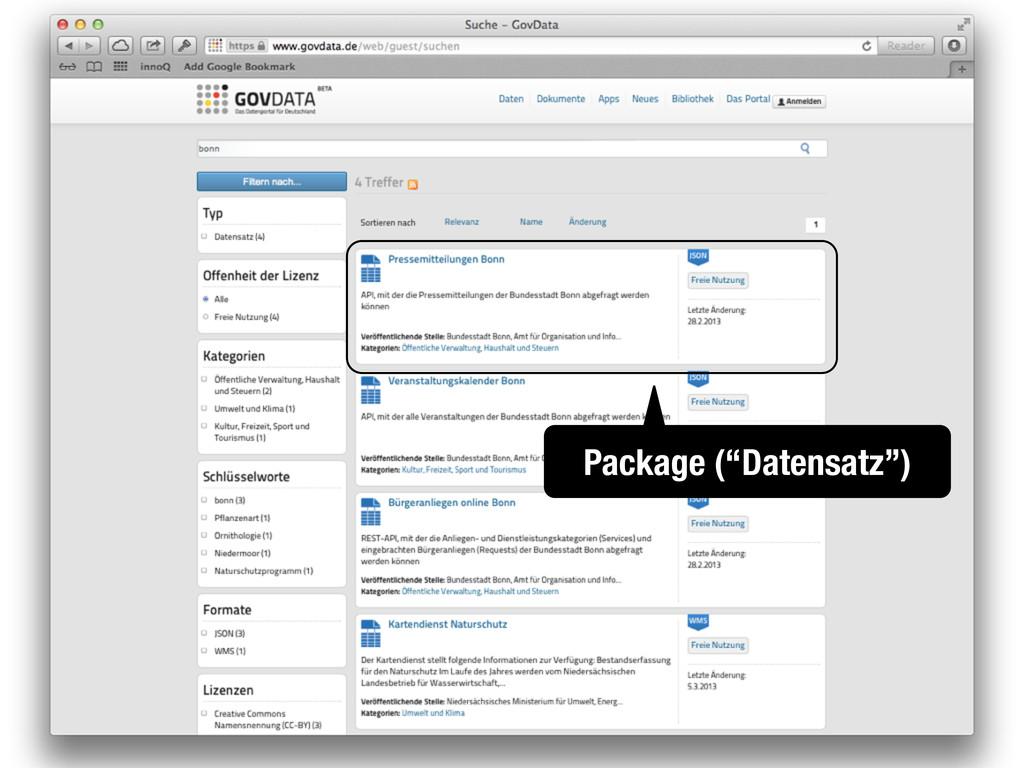 "Package (""Datensatz"")"