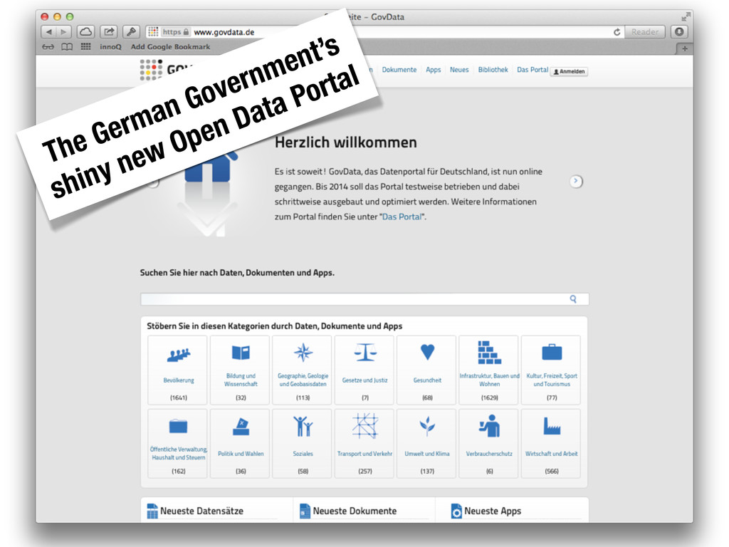 The German Government's shiny new Open Data Por...