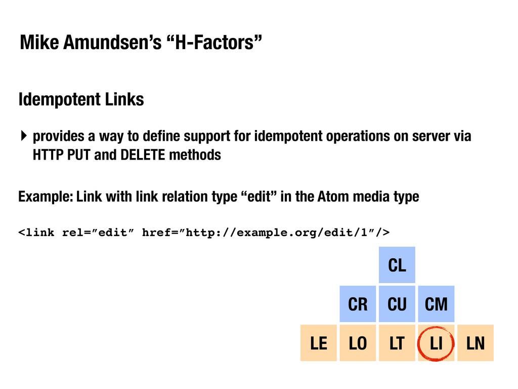 """Mike Amundsen's """"H-Factors"""" Idempotent Links CL..."""