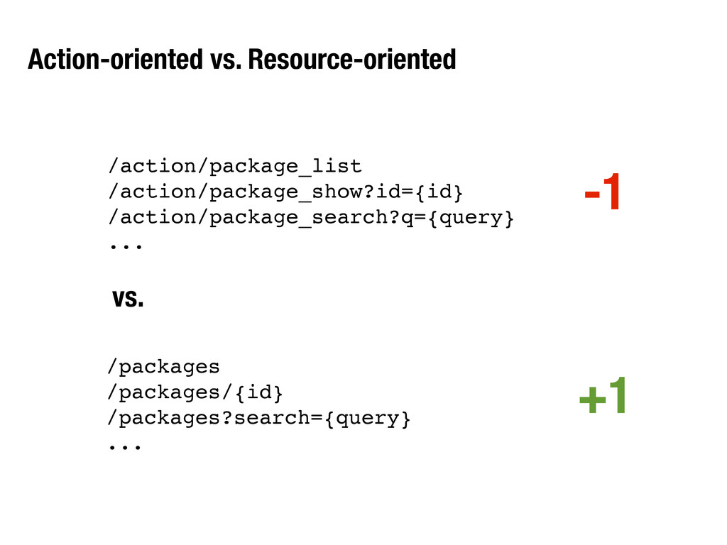 Action-oriented vs. Resource-oriented /action/p...